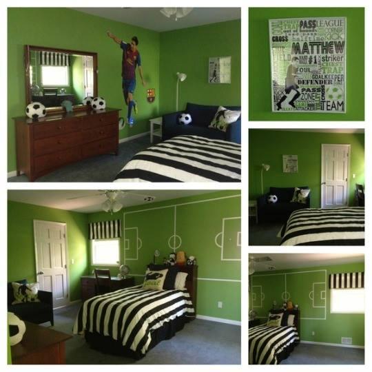 Green Boys Room: Habitaciones-ninos-decoradas-tema-futbol (16