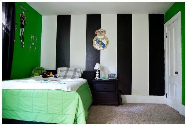 Habitaciones ninos decoradas tema futbol 18 decoracion de interiores fachadas para casas - Habitacion para 2 ninos ...