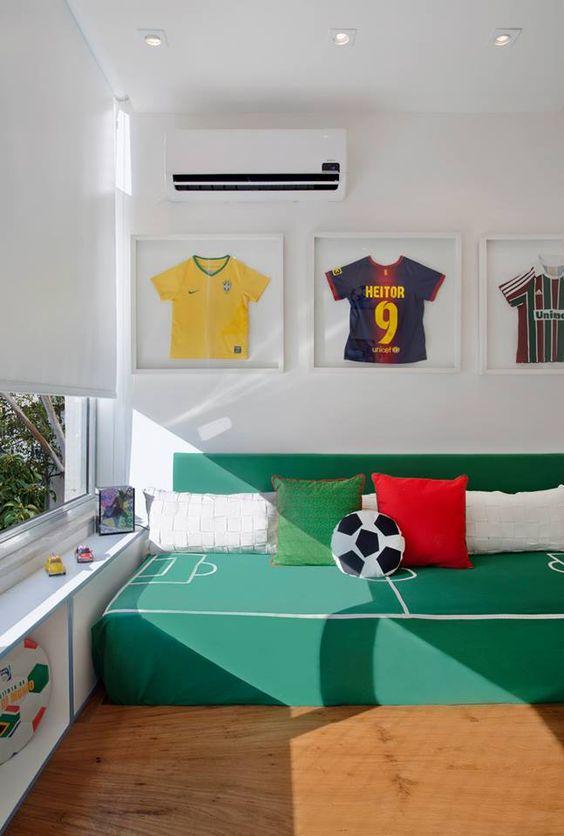 habitaciones ninos decoradas tema futbol 21 decoracion