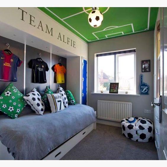 Habitaciones para ni os decoradas con tema de futbol for Ideas para decorar cuarto de jovenes