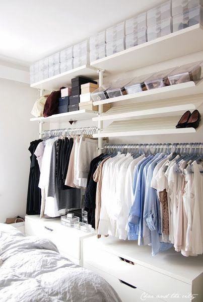 Ideas para armarios abiertos