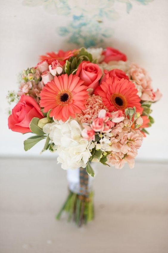 Ideas para bodas en color coral