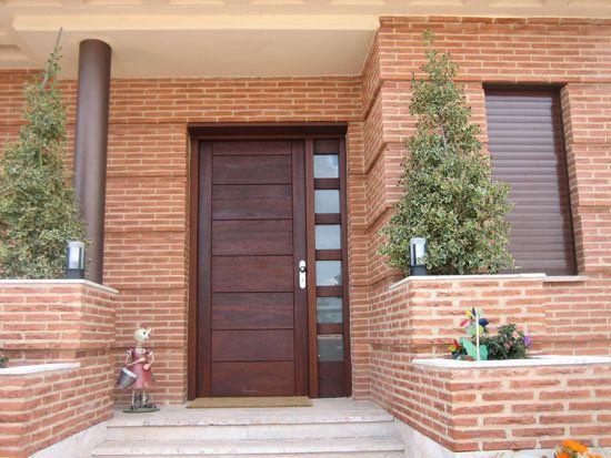 Ideas fabulosas para renovar la entrada y pasillos de tu casa - Puertas de entrada de diseno ...