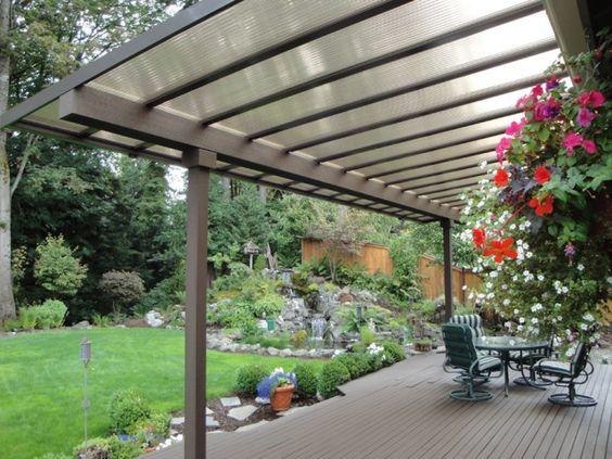 Ideas de techos para una terraza con estilo for Techos para patios exteriores