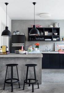 Modelos de cocinas pequeñas en cemento