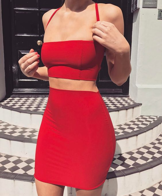 22 simple Outfit Enterizo Rojo