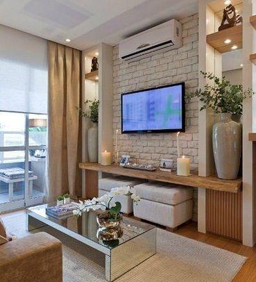 Salas television ideales casas pequenas 22 decoracion for Sala de estar pequena con escritorio