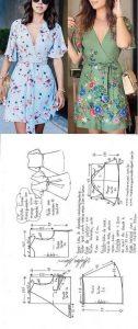 vestidos cruzados patrones y moldes