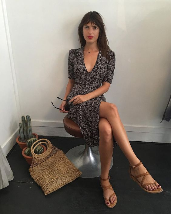 vestidos cruzados de moda