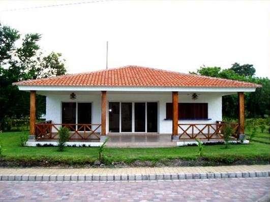 Casa de campo Blanco y teja