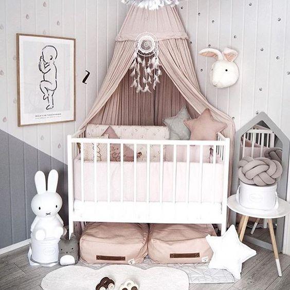 Diseños para decorar el cuarto de tu hija, cuando es bebe