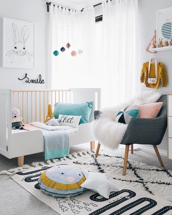 16 dise os para decorar el cuarto de tu hija cuando es bebe decoracion de interiores fachadas - Sillones habitacion bebe ...