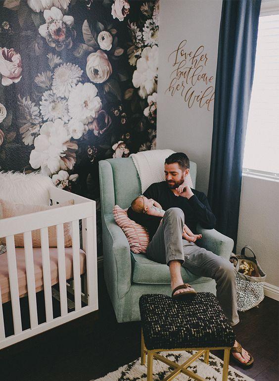 Ideas para decorar habitación bebe con tapiz