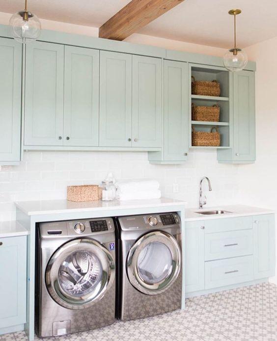 50 ideas decorar cuarto lavado 48 decoracion de for Muebles para lavanderia de casa