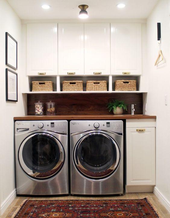 De 50 ideas para decorar un cuarto de lavado for Opciones para decorar un cuarto
