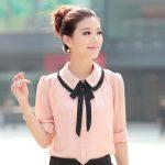 12 Diseños De Blusas con Cuello de Peter Pan