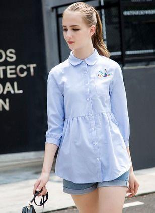 Diseño de blusas Peter Pan en rayas