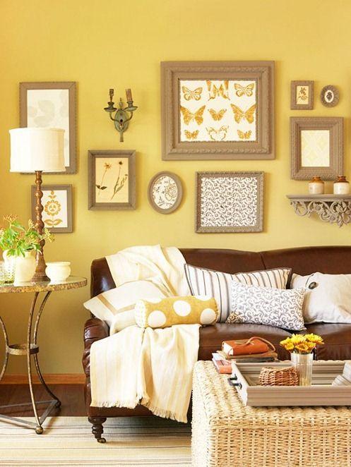 Salas en color marron