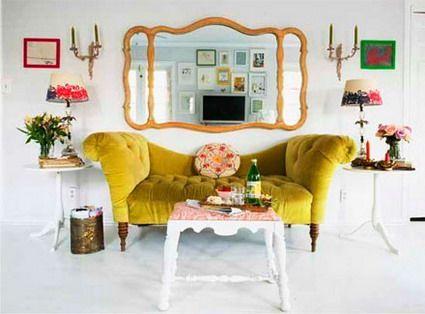 sofas en color mostaza