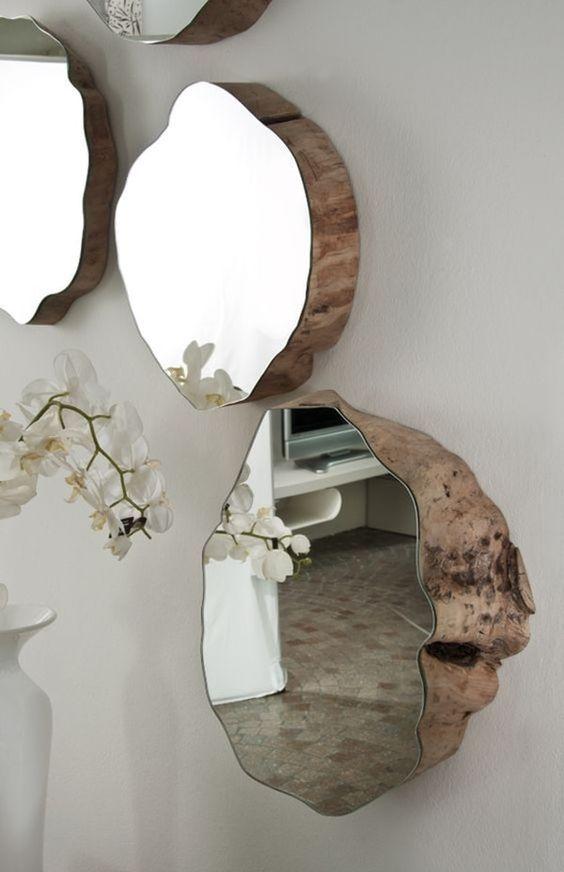 Espejos decorativos para sala y comedor decoracion de for Espejos madera para decorar