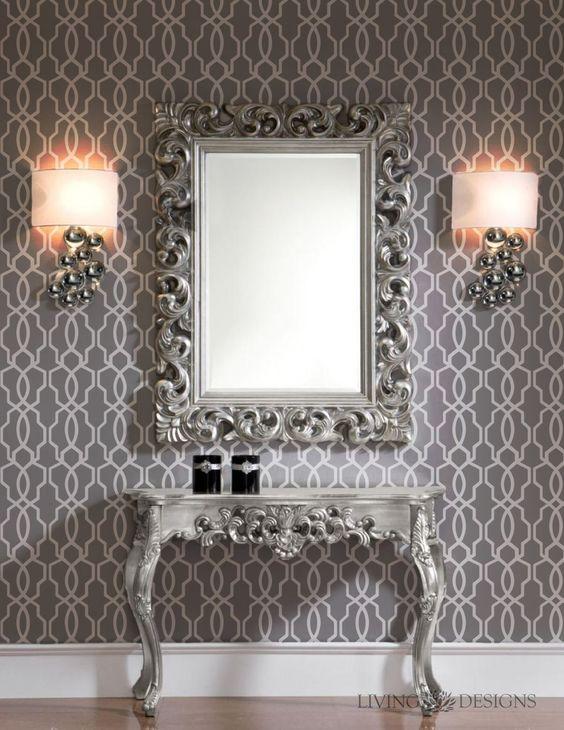 Espejos decorativos para sala y comedor - Papel de vinilo para paredes ...