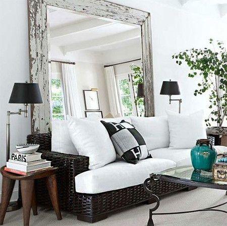 Espejos decorativos para sala y comedor ideas para for Espejos para pared completa
