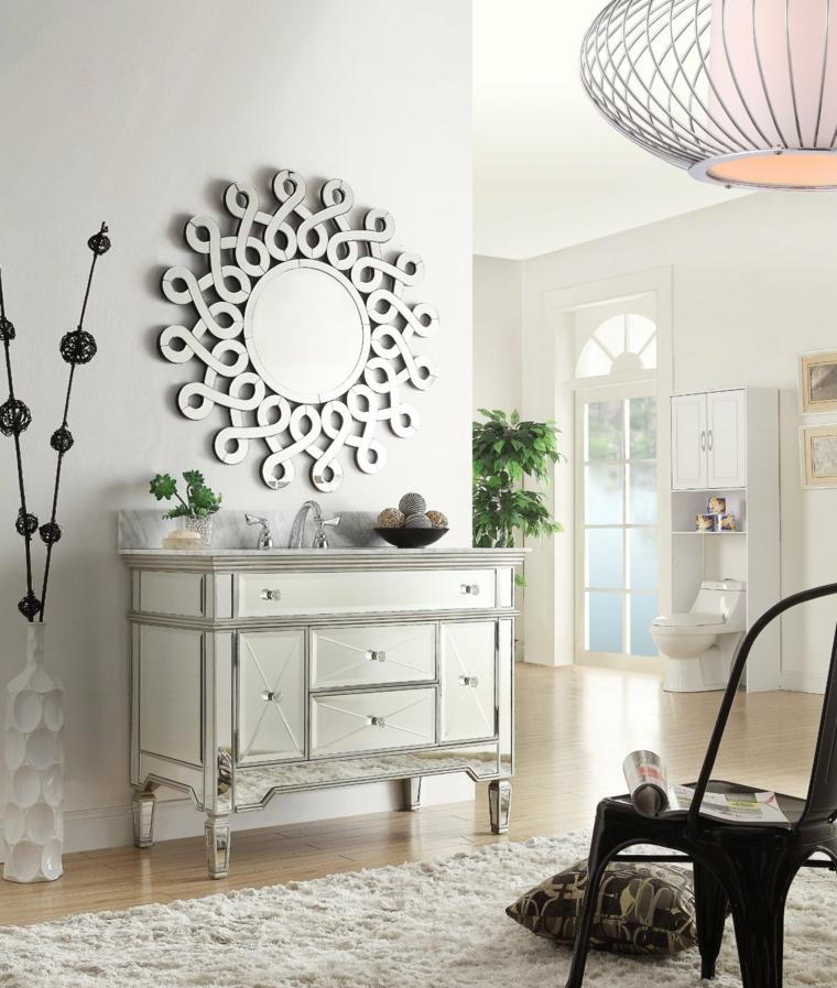 Espejos decorativos para sala y comedor decoracion de for Decoracion de salas con espejos en la pared