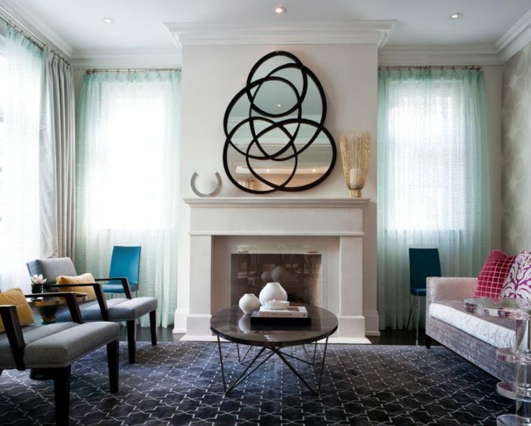 Espejos decorativos para sala y comedor ideas para decorar una sala - Espejos con diseno ...