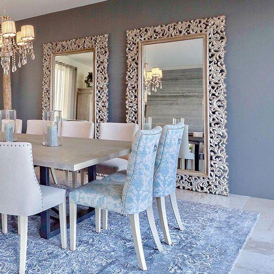 Espejos decorativos para sala y comedor decoracion de for Espejos para pared completa