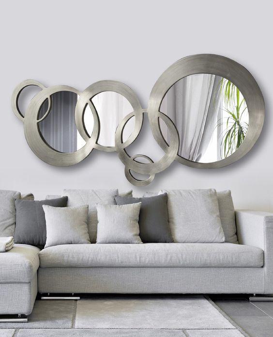 Espejos decorativos para sala y comedor for Como hacer espejos decorativos modernos