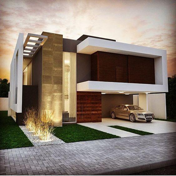 Casas modernas que quedras tomar ideas para tener una casa for Mejores fachadas de casas modernas