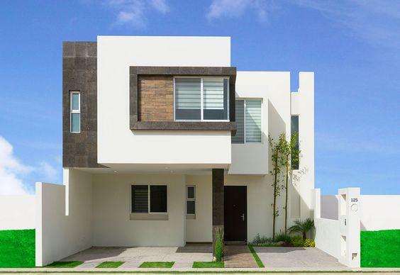 8 hermosos dise os de casas con fachada moderna for Casas pequenas estilo minimalista