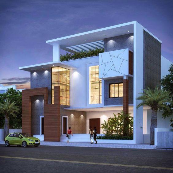 8 hermosos dise os de casas con fachada moderna Disenos de casas contemporaneas pequenas