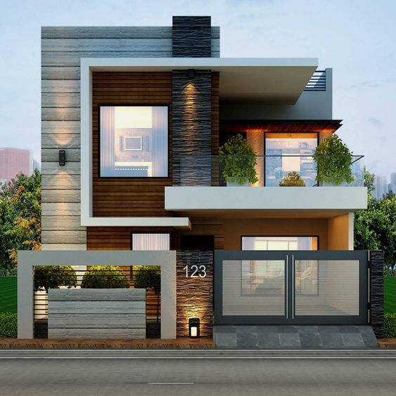 8 hermosos diseos de casas con fachada moderna - Casas Minimalistas
