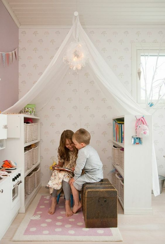 Reading corners for the little ones, at home