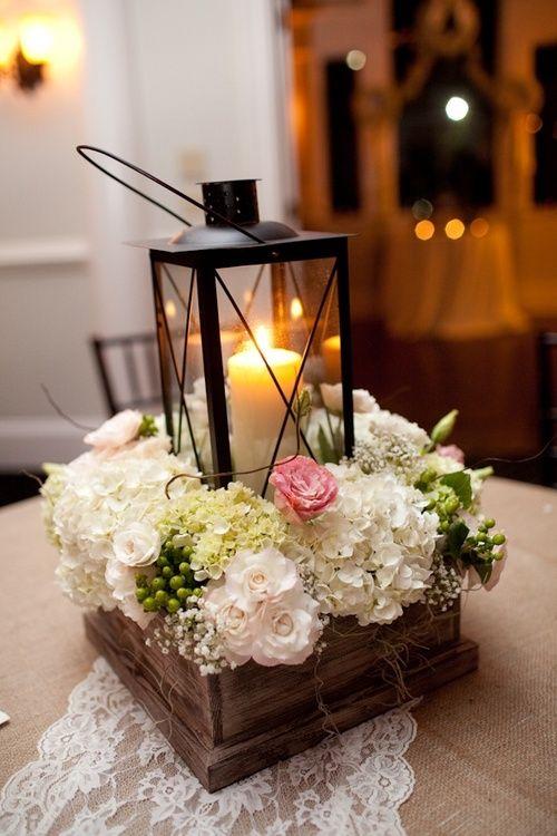 Centros de mesa para bodas con bases de madera - Precios de centros de mesa para boda ...
