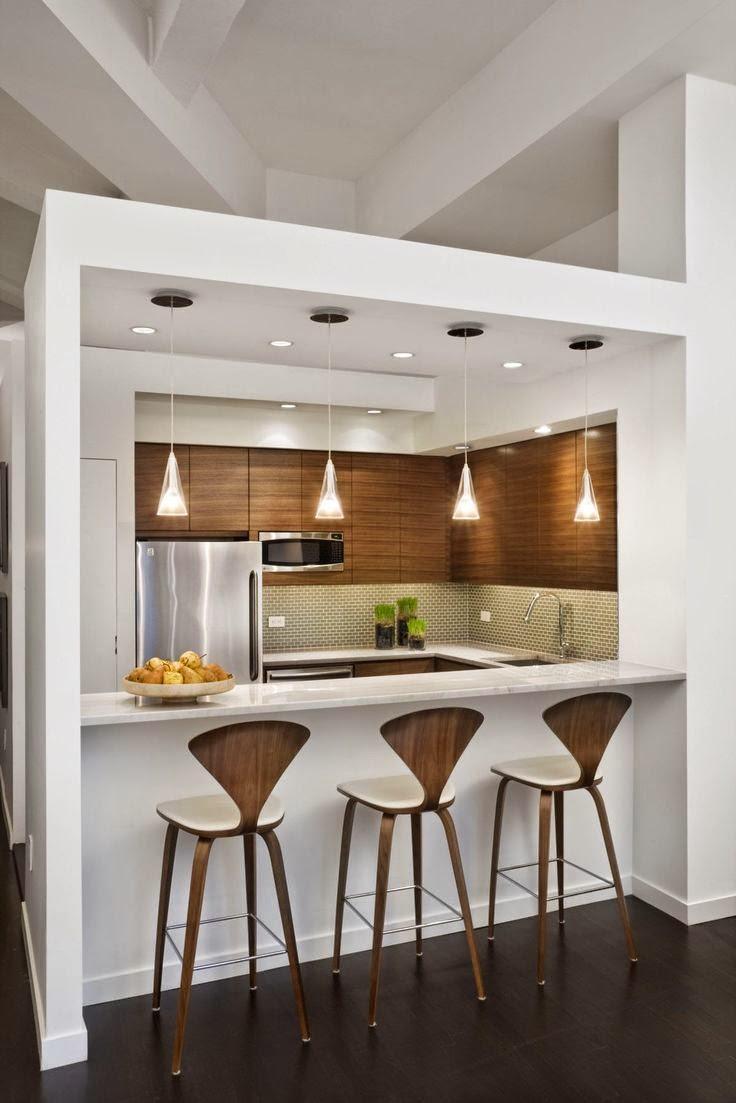 Dise os de cocinas modernas para casas peque as y colores - Diseno de cocinas pequenas ...