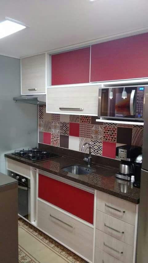 Dise os de cocinas modernas para casas peque as y colores for Cocinas funcionales y modernas