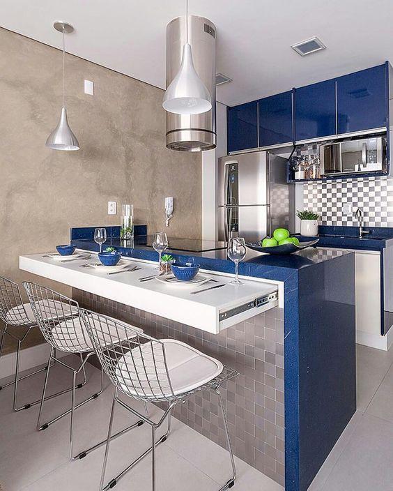 Dise os de cocinas modernas para casas peque as y colores - Cocinas en linea ...