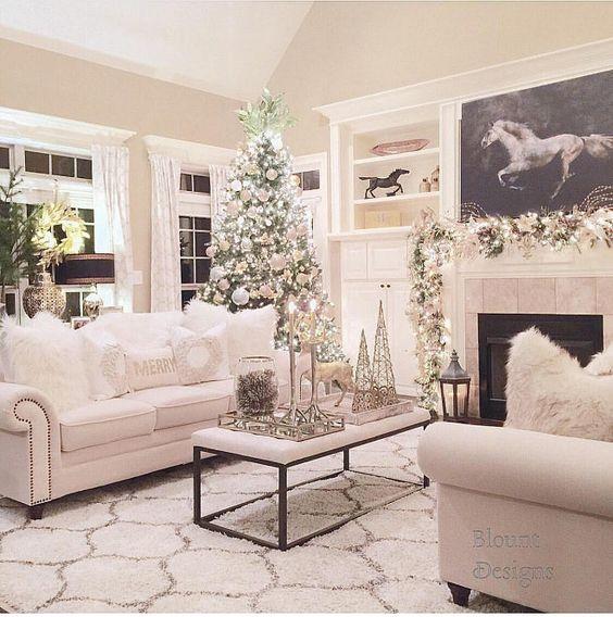 Beautiful Christmas Decorations For Your Living Room: Como Decorar La Sala En Navidad