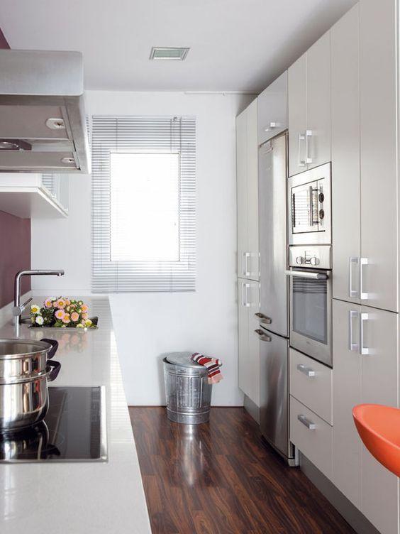Decoraci n de cocinas alargadas for Amueblar cocina alargada