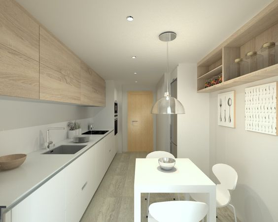 Decoraci n de cocinas alargadas for Cocinas alargadas modernas