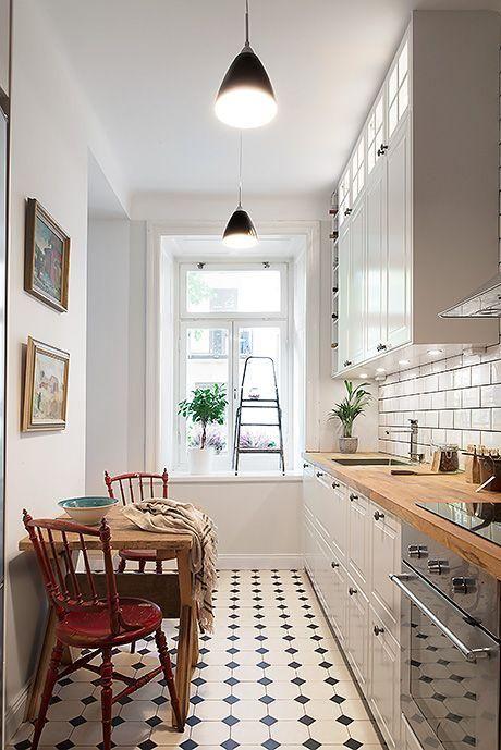 Decoración de cocinas alargadas