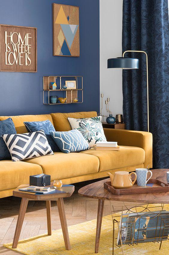 Decoraci n de interiores color mostaza for Combinacion de colores en decoracion de interiores