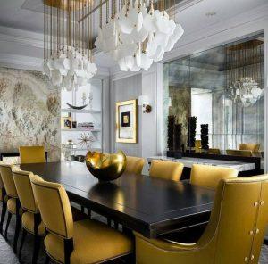 Decoración de interiores color mostaza