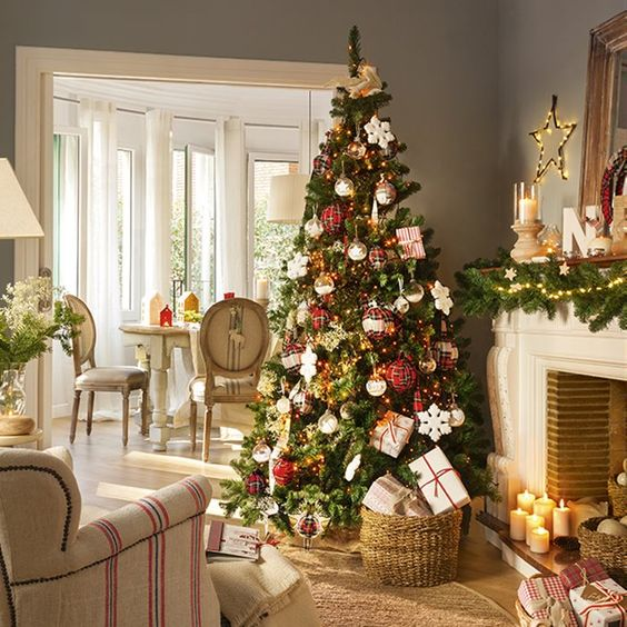 Decoraci n navide a 2017 2018 for Casas decoradas de navidad interiores