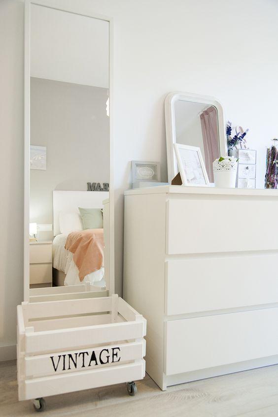 Decoraci n y organizaci n con cajas de madera for Decoracion de espejos paso a paso