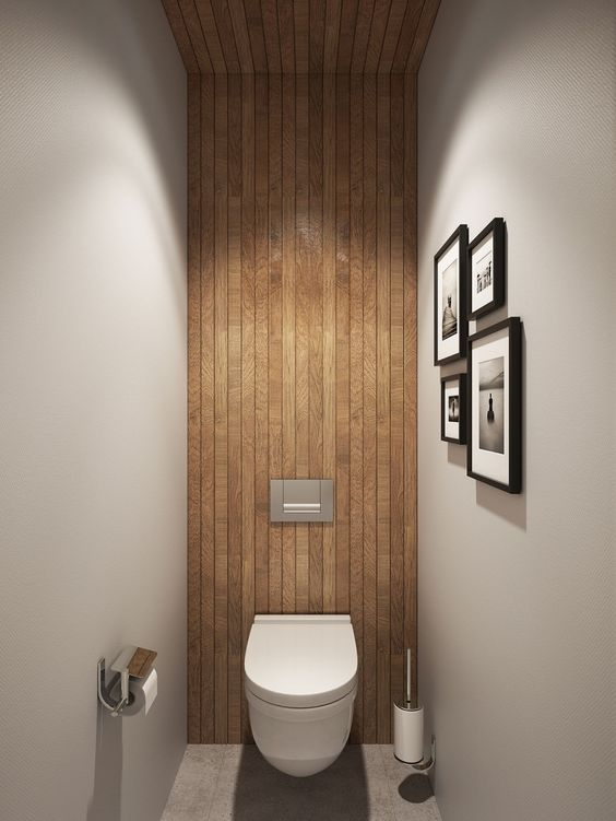 Decoration of small toilets