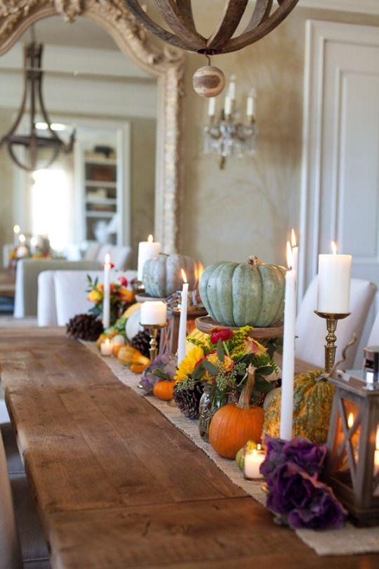Como decorar la mesa en la cena de acci n de gracias 2017 for Decoracion de mesa para accion de gracias
