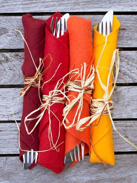 Ideas para decorar servilletas para acción de gracias